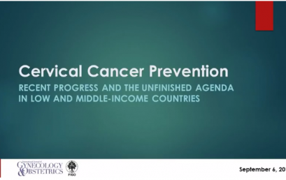Cervical cancer webinars in English and Spanish available online