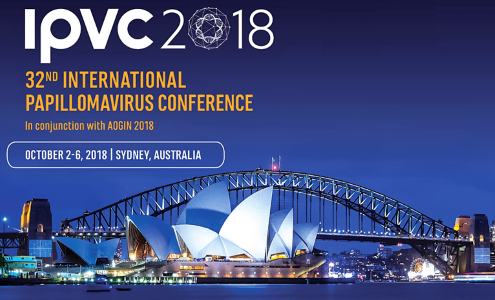 The International Papillomavirus Conference, Sydney International Convention Centre, Oct 2-6th 2018