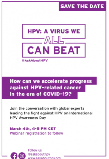 HPV: A Virus we ALL can Beat!  High-level panel on March 4th